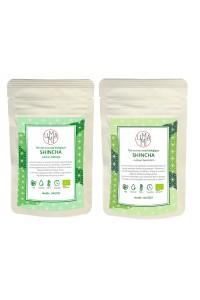 Pack shincha : Organic green teas shincha Saemidori & Asatsuyu