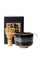 Coffret matcha noir (bol 350 ml + spatule + fouet)