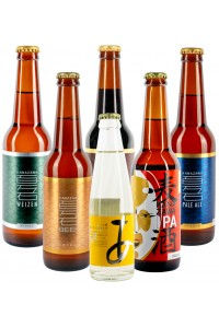 Set of beers with one free sparkling sake