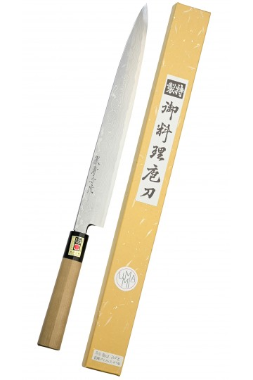 Yanagiba couteau spécial sashimi Damas 300 mm