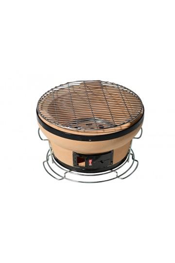Barbecue japonais de table rond «Genghis» + grille et fond