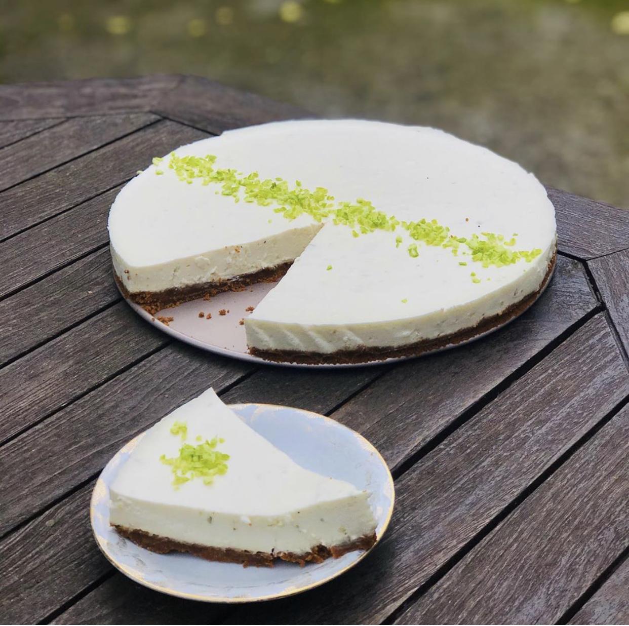 Cheesecake au sudachi et spéculoos